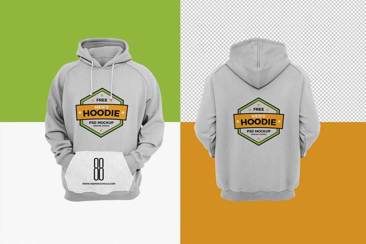 Download Men's Hoodie Free PSD Mockup - PlanetMockup